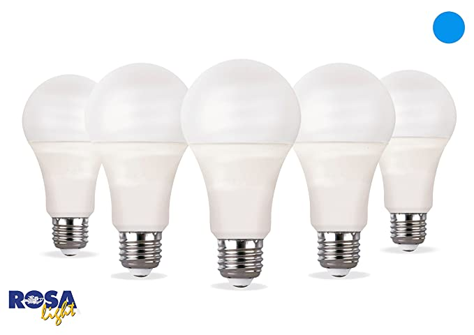 Set de 5 bombillas LED de 15 W con casquillo E27, alta eficiencia luminosa,