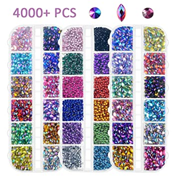 Self Adhesive Stick On Diamante Flat Back Rhinestone Gems Multi Colour Art Craft
