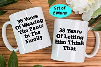 Image Unavailable. Image not available for. Color Boyce22Par 38th Anniversary Gifts ... & Amazon.com: Boyce22Par 38th Anniversary Gifts 38th Anniversary Mugs ...