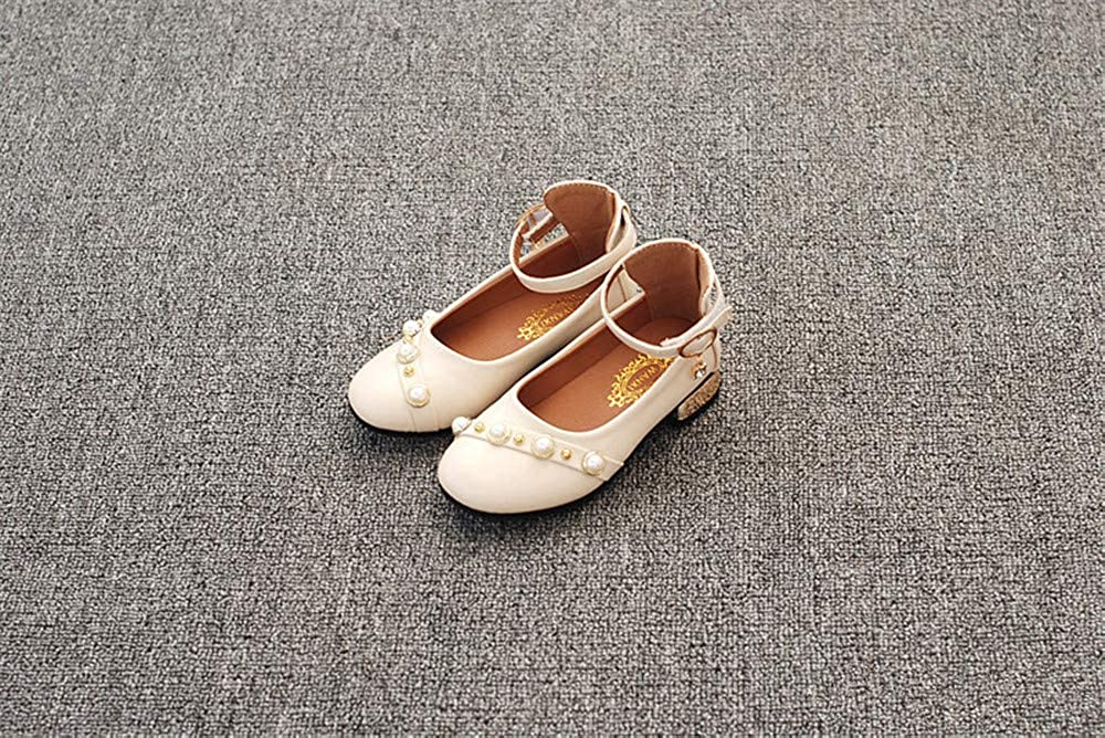 Toddler//Little Kid//Big Kid MODEOK Girls Princess Cosplay Performance Shoes Sequins Dress Shoes Low Heeled