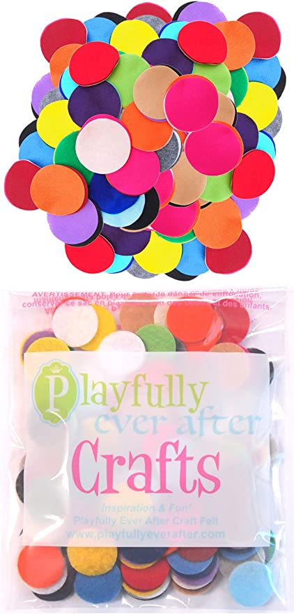 Playfully Ever After 5 Inch Mixed Color Assortment 50pc Felt Circles