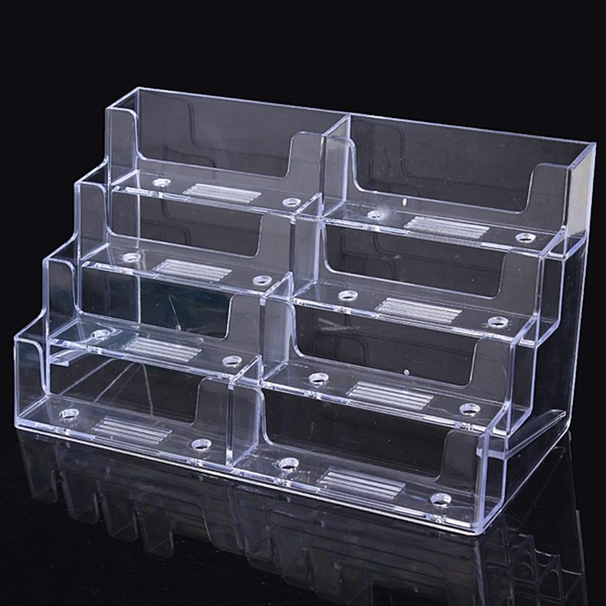 Katoot@ 8 Lattice Multilayer Card Storage Box Desktop Clear Transparent Acrylic Business Card Holder Countertop Display Stand Hot