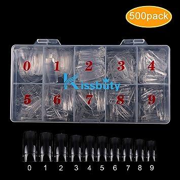 Amazon.com: Kissbuty - 500 uñas postizas acrílicas de ...