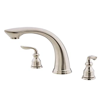 Pfister Avalon 2-Handle Roman Tub Faucet, Brushed Nickel - Two ...