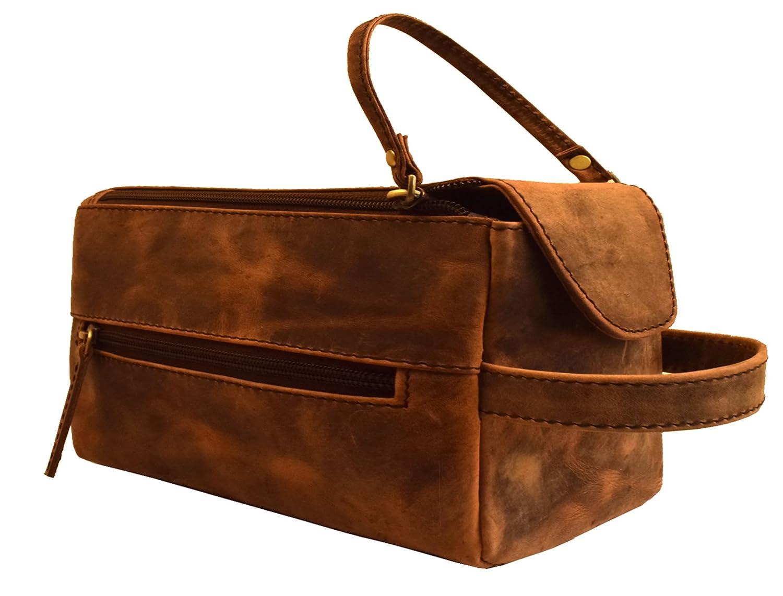 3f7e263b81ca 80%OFF Handmade Buffalo Genuine Leather Toiletry Bag Dopp Kit Shaving and Grooming  Kit for