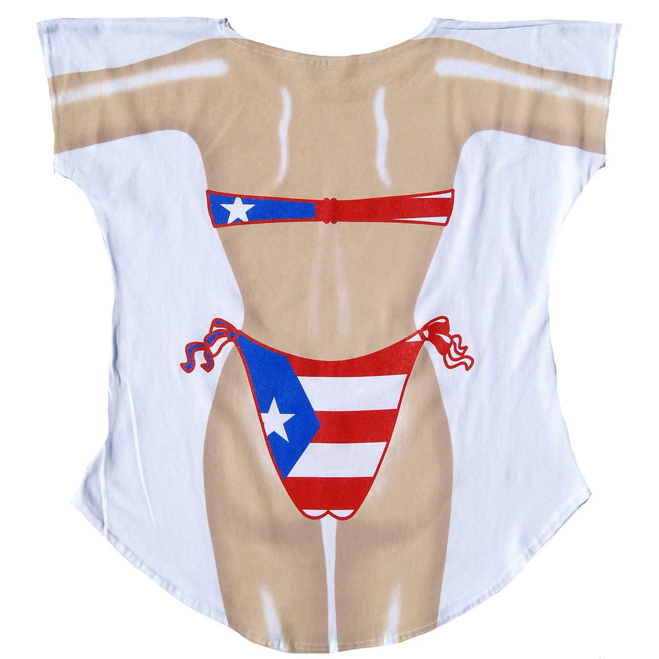 726dc35ea2508 L.A. Imprints Puerto Rican Bikini Body Cover-Up T-Shirt at Amazon Women's  Clothing store: