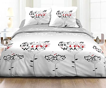 4 Piece Bedding Set 100 Cotton 57 Threads Cm For Double Beds