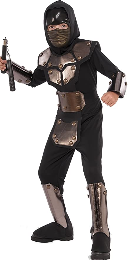 Rubies Costume 630948-L Childs Iron Phantom Ninja Costume, Large, Multicolor