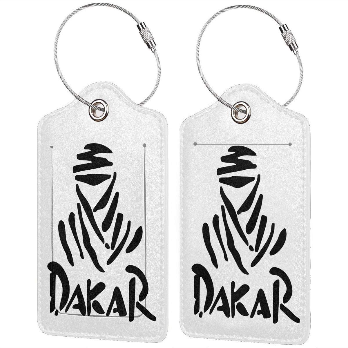 Dakar Labels With Privacy Cover For Travel Bag Suitcase Travel Accessory Luggage ID Tag