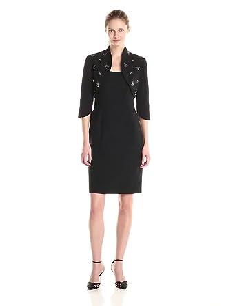Amazon.com: Adrianna Papell Women's Beaded Bolero Jacket with ...