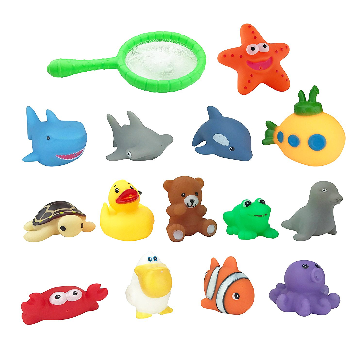 Liberty Imports Water Bath Squirties   Fun Floating Squeeze and Squirt Bathtub Squirters   Ideal Toys for Kids, Babies, Toddlers Bathtime (Ocean Animals)