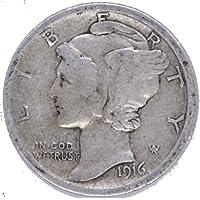 1916 P Silver Mercury Dime 10c Very Good #02
