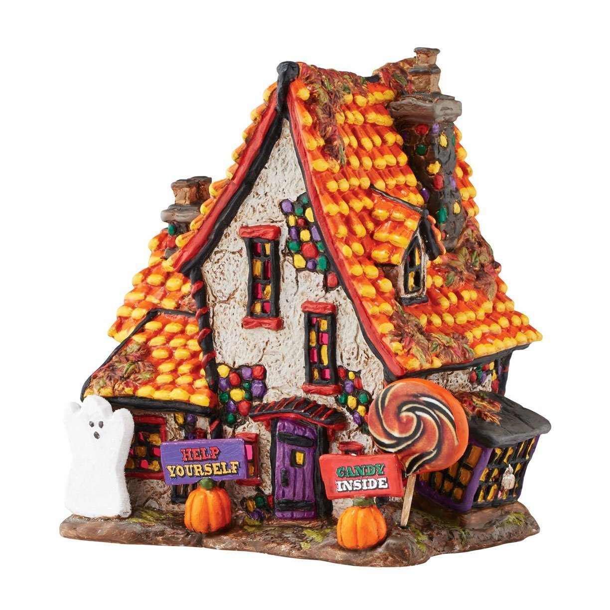 amazoncom department 56 village halloween sweet trappings cottage lit house home kitchen
