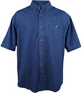 86c48c3c5b1 Tri-Mountain 100% Cotton Denim Shirt - 829 Pioneer at Amazon Men s ...