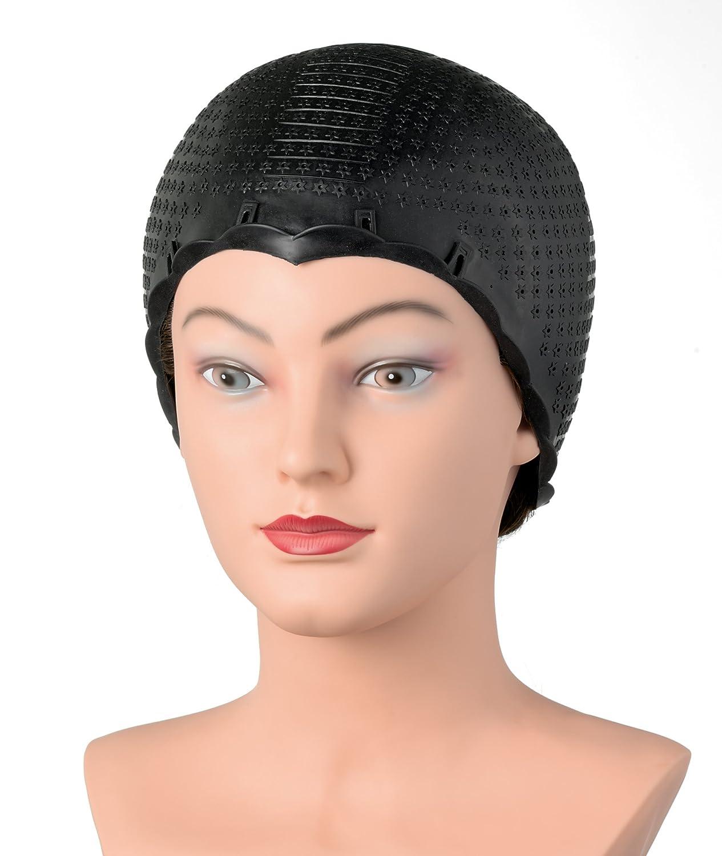 Comair Strähnenhaube Thermoplastik schwarz Reißfeste Strähnenhaube zur Mehrfachanwendung Kopfart Antje Willems 3040027