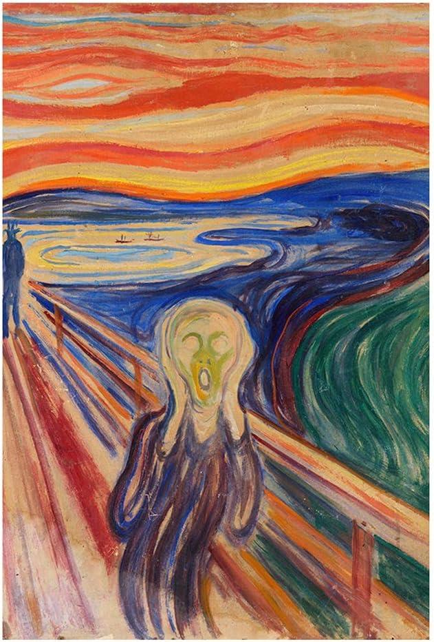 Puzzle-s Cuadros Famosos del Mundo - El Grito Rompecabezas 1000 Piezas, Noruega Pintor Edvard Munch, 75,5 x 50,5 cm s