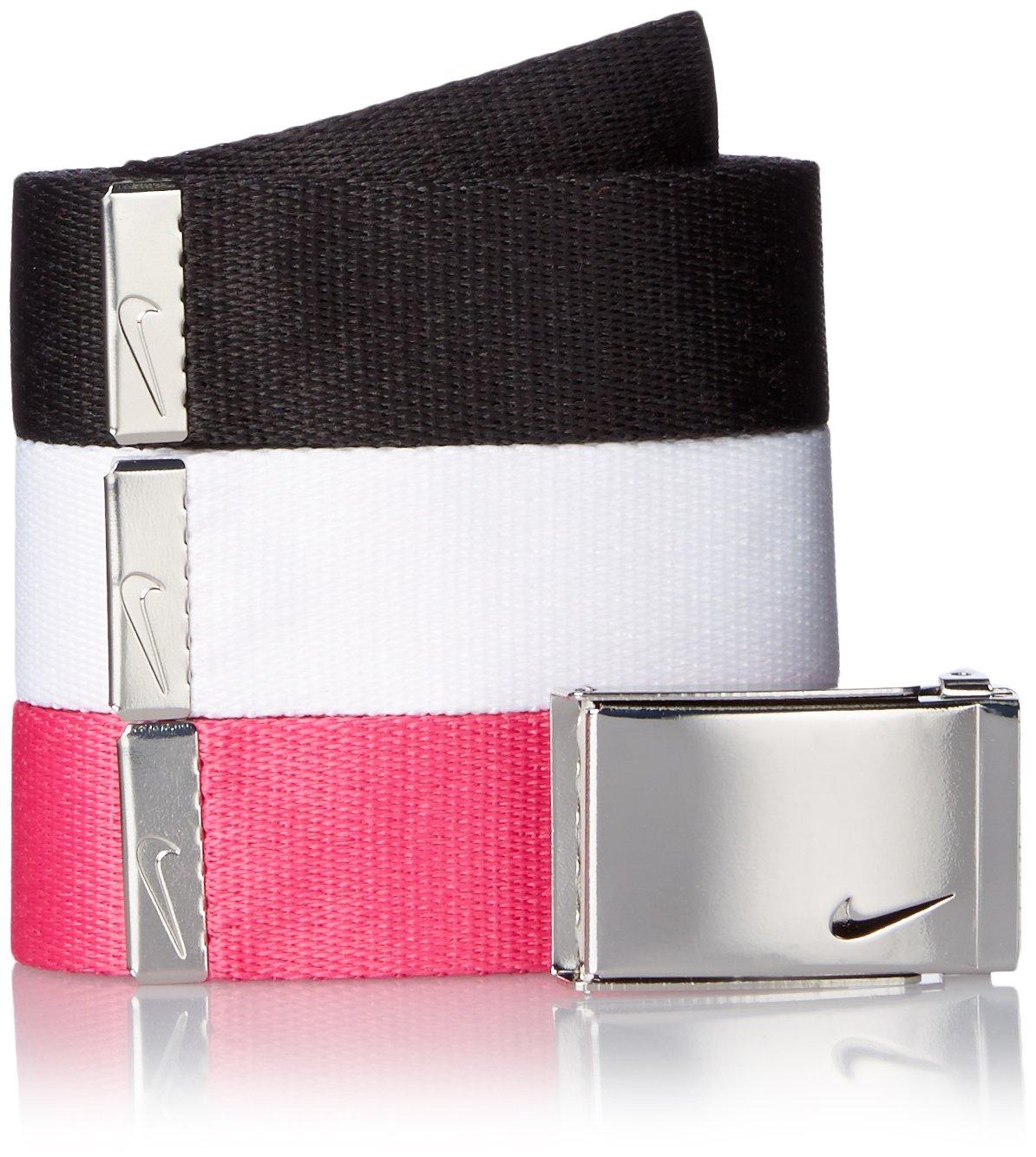Nike Women's 3-In-1 Web Belt Pack, Black/White/Vivid Pink, One Size