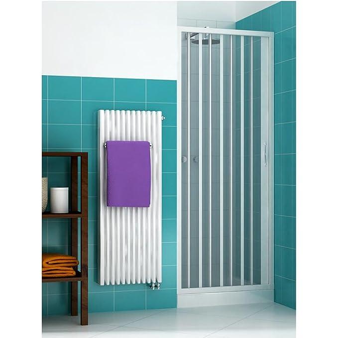 Box douche porte à soufflet en PVC réversible adaptable différentes tailles et couleurs