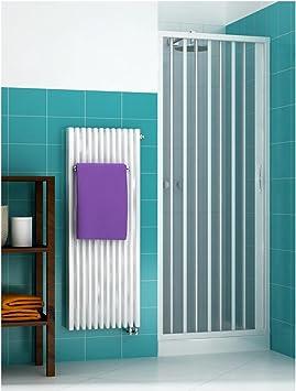 Mampara de ducha con puerta plegable de PVC reversible y adaptable: Amazon.es: Bricolaje y herramientas