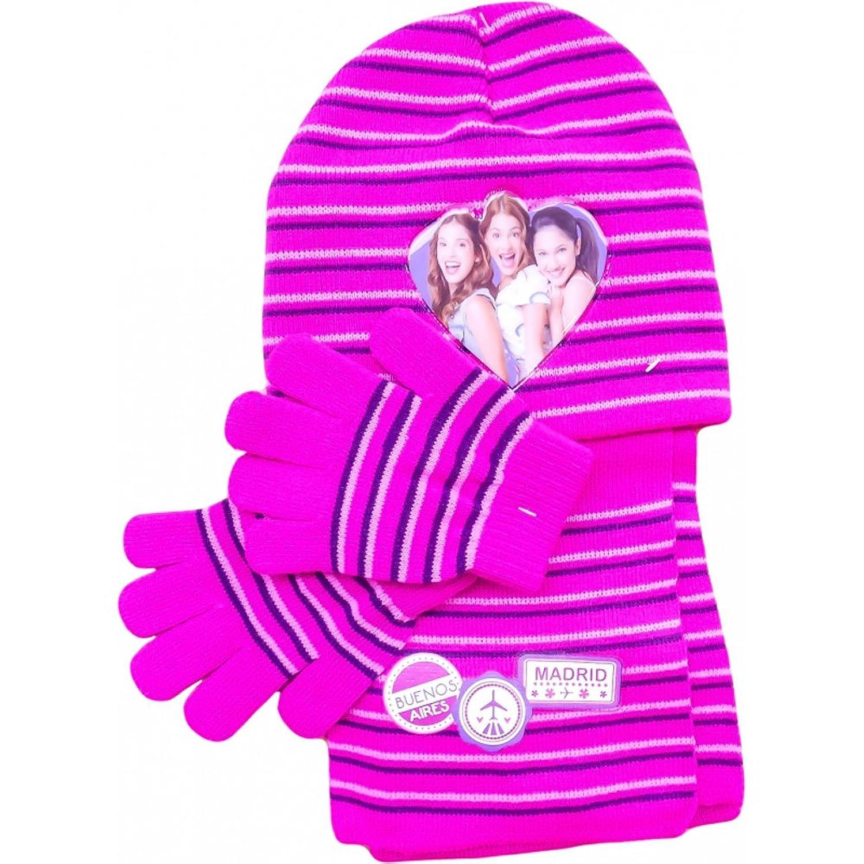 Disney Violetta Mütze, Schal und Handschuhe SET