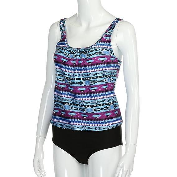 ... Tallas Grandes Deportivas Conjuntos de Tankini Mujeres Bikini Estampado Traje de baño Premama bañadores de Mujer Natacion: Amazon.es: Ropa y accesorios