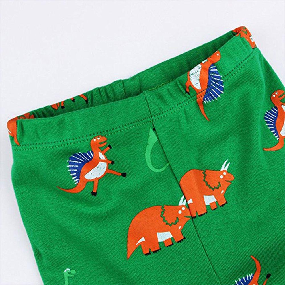 Tueenhuge Kids Dinosaur Pajamas 2 Piece Long Sleeve 100/% Cotton Sleepwear