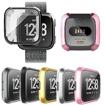 FOLOME Fitbit Versa écran Housse de protection, résistant aux rayures, souple et flexible en