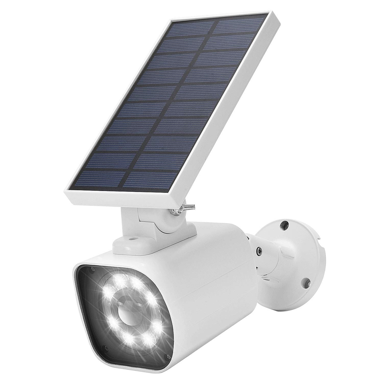 Solar Motion Sensor Light Outdoor JACKYLED 800 Lumen LED Solar Security Lights with Red Light Mode IP66 Waterproof Dim to Bright Outdoor Flood Lights for Porch Garden Patio Driveway Pathway Pack of 1