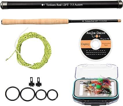 12//13FT Tenkara Rod Carbon Fiber Fly Fishing Rod Carbon Fiber 7:3 Telscoping Rod