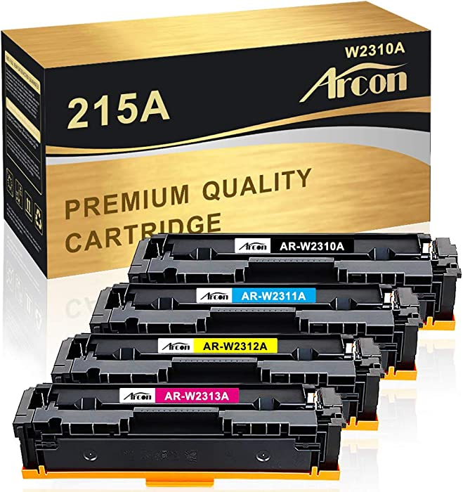 Arcon Compatible Toner Cartridge Replacement for HP 215A W2310A W2311A W2312A W2313A for M182nw M183fw M155 HP Color Laserjet Pro MFP M182nw, MFP M183fw, MFP M155 (KCMY,4-Pack)