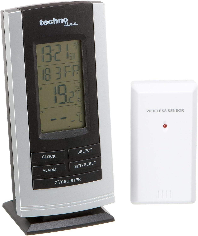 TECHNOTRADE WS 9180 Funkuhr Wetterstation Innen-// Außentemperatur Weckalarme