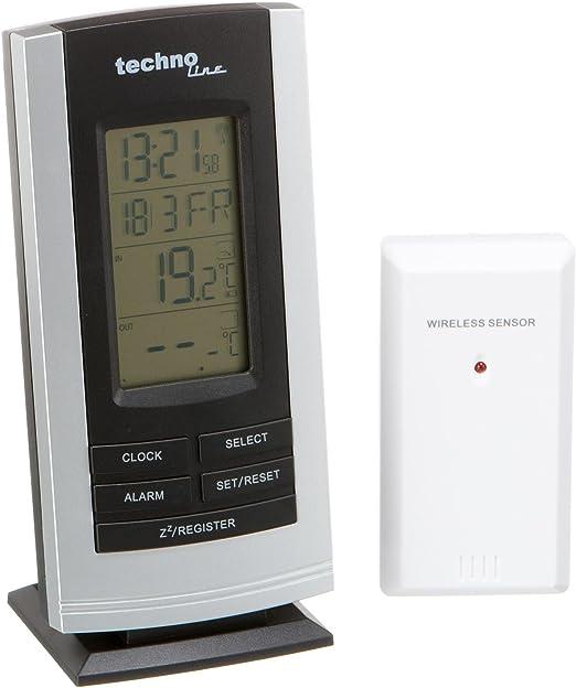Technoline WS 9180 - Estación meteorológica, color negro y plateado: Amazon.es: Jardín