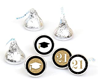 product image for Big Dot of Happiness Gold Tassel Worth The Hassle - 2021 Graduation Party Round Candy Sticker Favors – Labels Fit Hershey's Kisses (1 Sheet of 108)