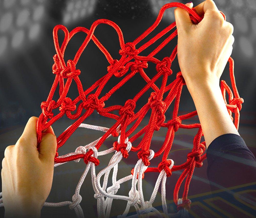2pcs Profi Basketball Netz Set 4mm Nylon Basketball Ersatz Netz Dauerhaft und jedes Wetter Ballnetz F/ür Standard Gr/ö/ße BasketballKorb 12 Loch Ersatznetz f/ür Outdoor Sports Basketball Training