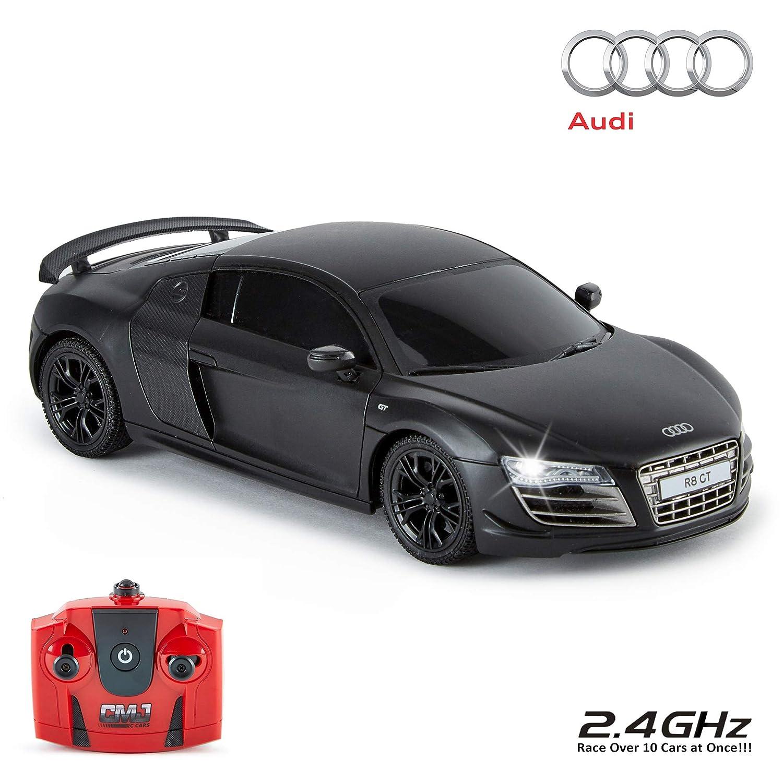 CMJ RC Cars Auto Radio De Control Fern Negro Audi R8 Gt