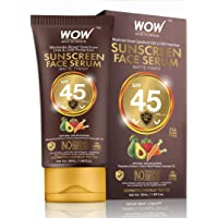 WOW Skin Science Matte Finish Sunscreen Face Serum SPF 45 PA+++ with Raspberry, Carrot Seed & Avocado Oil - OIL FREE - No Parabens, Silicones, Mineral Oil, Oxide, Colour, Benzophenone - 50mL