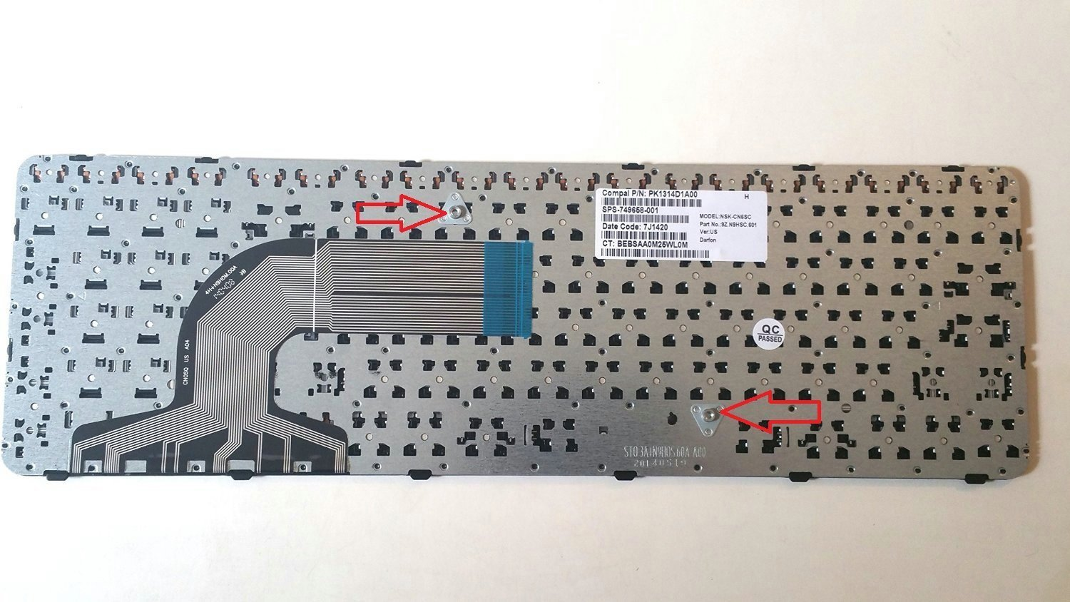 Original New US Laptop replacement Keyboard for HP 15-r174ca 15-r181nr 15-r134cl 15-r136wm With Frame/&without backlit
