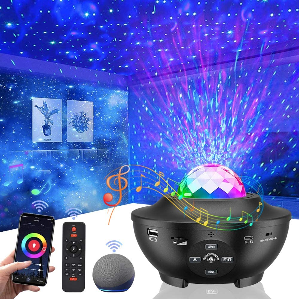 Star Galaxy Projector.Vercarnon LED Star Light Galaxy Projector with Alexa,Google Assistant Remote Control for Kids Bedroom Decoration Party Home Holidays Ambiance