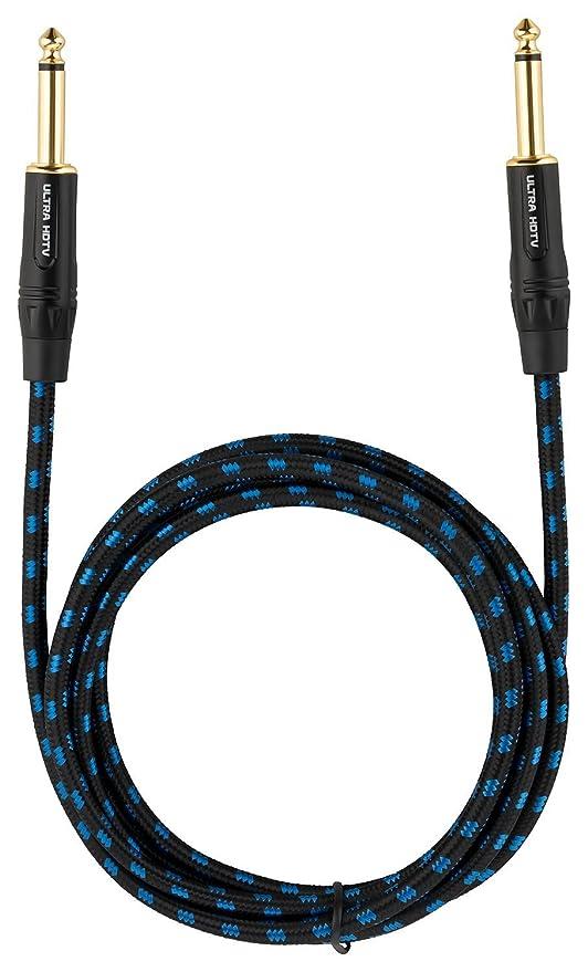 Cable para Guitarra y Instrumentos Macho a Macho de Ultra HDTV | Jack DE 6.3 mm ...