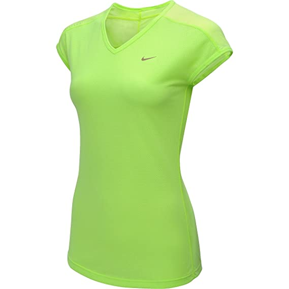 ef9dba4cb1646 Nike Womens Touch Tailwind Running Athletic Shirt Volt Yellow ...