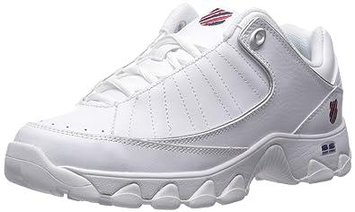 cfc3572ced0e K-Swiss Men s ST529 Fashion Sneaker White Navy Red 6.5 ...