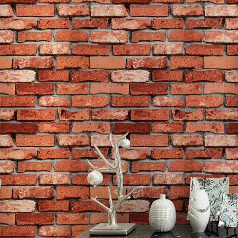 200 x45cm Leisu Papier peint intiss/é 3D style pierre Adh/ésif D/écoratif pour Murs Chambre Salon Maison Bureau Meuble structure brique 1, A1