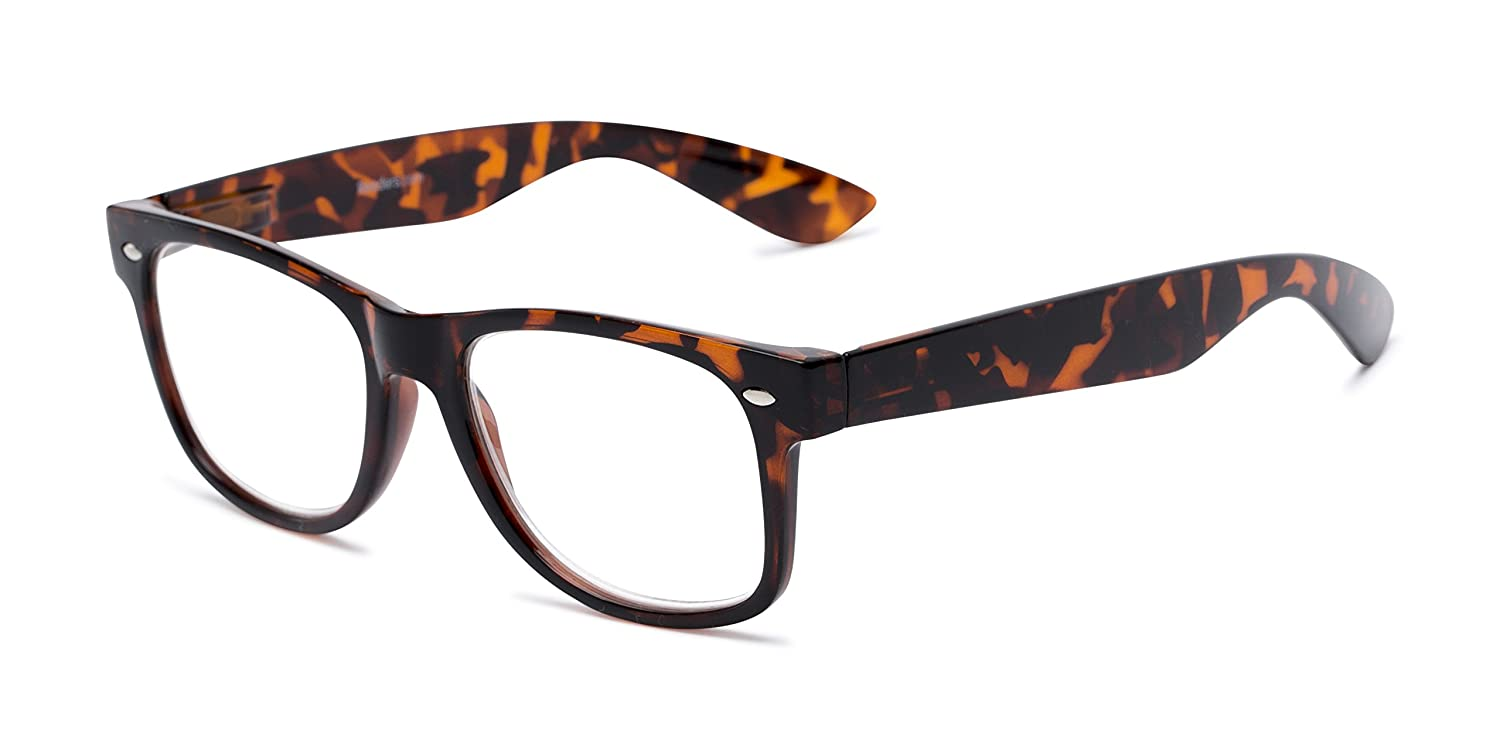 0a39749a6ac Amazon.com  Readers.com The Red Bluff Tortoise Unisex Retro Square Reading  Glasses +5  Health   Personal Care