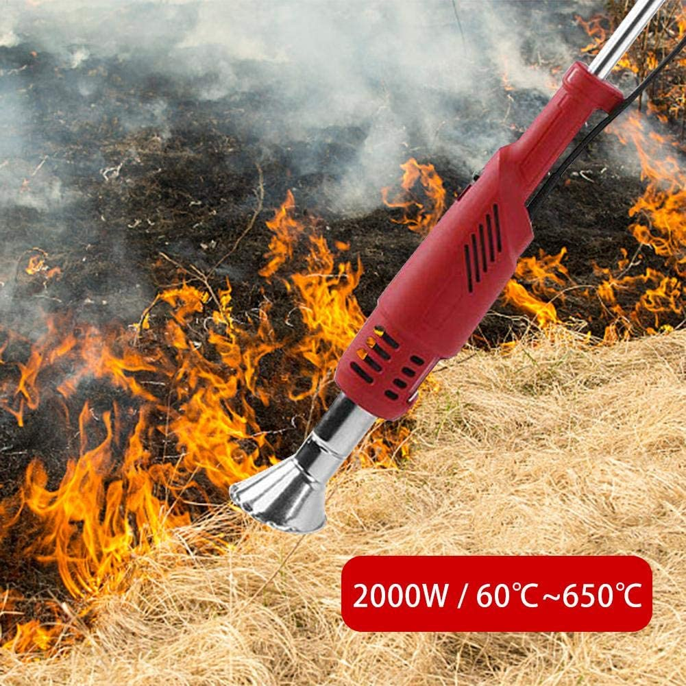gaeruite Weed Burner Outil /électrique de Tondeuse /à Gazon de br/ûleur de Mauvaises Herbes de Jardin /électrique de 2000W pour Le Jardin Patio