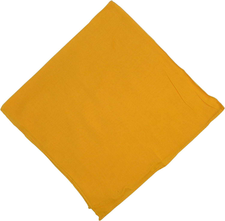 indischerbasar.de Halstuch 50x50cm Baumwolle 1A Qualit/ät Einfarbig Bedruckbar Bestickbar Azofrei Uni Tuch Kopftuch Schultertuch Accessoire