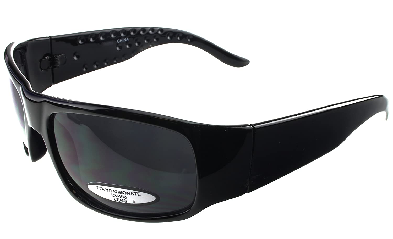 24b4d497a44f Amazon.com  G G Super Dark SD Basic Sunglasses Thick Arm Black Frame   Clothing