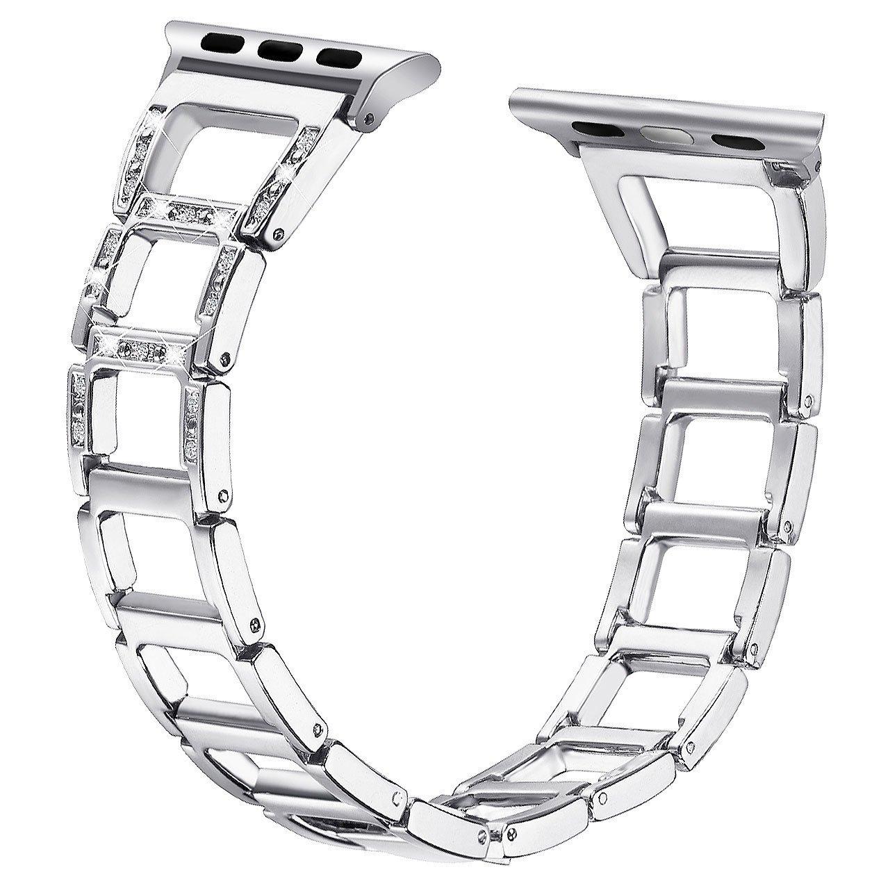 Allbingo - Correa metálica de repuesto, diseño de diamantes ...