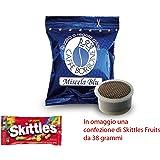 JSD Capsule caffè BORBONE FAP Espresso Point Miscela Blu Compatibile LAVAZZA Espresso Point + Omaggio Una Confezione di Skittles Fruits da 38 Grammi (50)