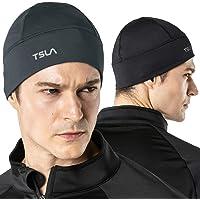TSLA Men and Women (Pack of 1, 2) Thermal Fleece Lined Skull Cap, Winter Ski Cycling Cap Under Helmet Liner, Cold…