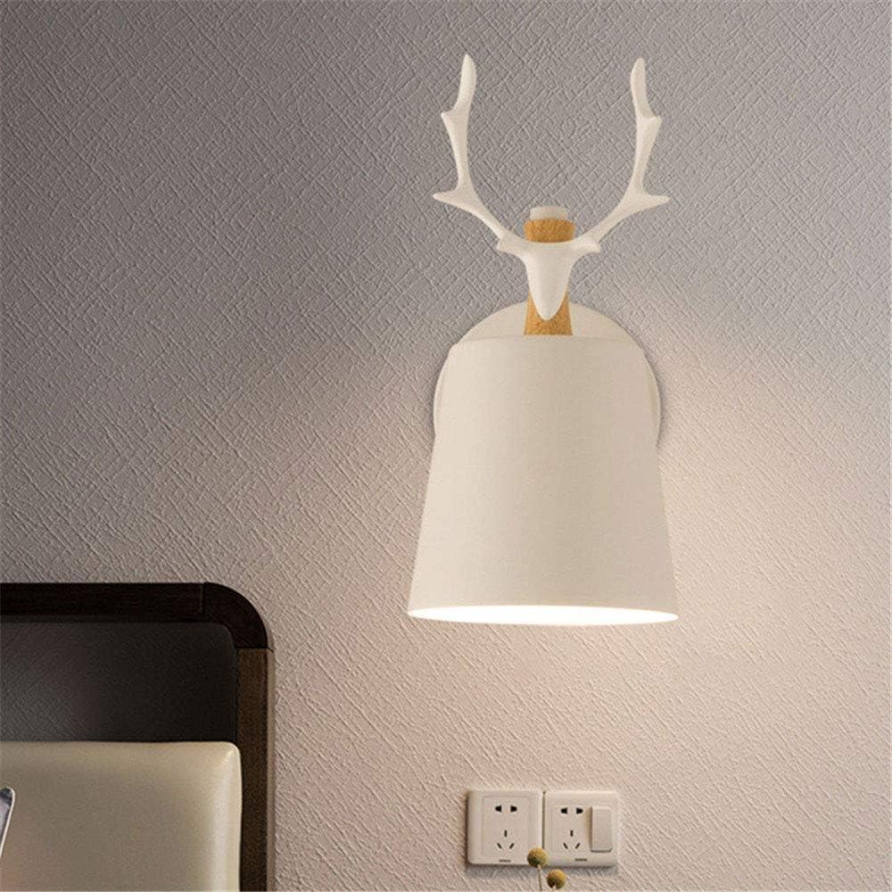 Lámparas de pared para cabecera, Lámparas de pared de asta de ciervo, E27 sin bombillas, Para iluminación interior